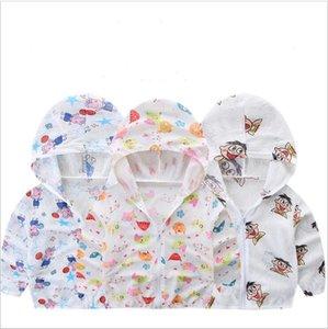 Kinder-Designerkleidung für Rash Guard Shirts Sonnenschutzkleidung Anti UV Mantel mit Kapuze Sonnenschutz Cartoon Klimaanlage Hemd übersteigt A5469