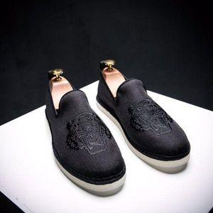 Hommes Chaussures Homme Canva Chanvre Espadrille Top qualité Tiger broderie Designer main pêcheur Chaussures Slip On Mens Mocassins Flats d02