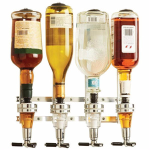 Montage mural 4 Station Bar Machine de boissons alcoolisées vin Distributeur Butler boire Pourer Accueil Bar Outils pour la bière Soda Soda Coke Fizzy
