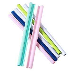 Détachable silicone paille réutilisable facilement Openable propre qualité alimentaire silicone potable Straws écologique beuveries Straws