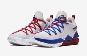 르브론 17 낮은 조정 분대 뜨거운 판매 빛 크림 레이커스 메탈릭 골드 홈 남자 농구 신발 무료 배송 US7-US12