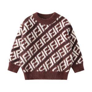 de la escuela de marca Estilo Moda Niños Pullover Boy venta caliente FF impresa letra suéteres de alta calidad Otoño Invierno Ropa niños