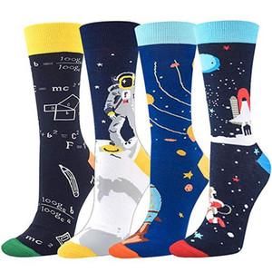 Носки Красочные Модные Мужские Хлопчатобумажные Носки Четыре Стиля Математика Носки Печатные Мужские Дизайнерские