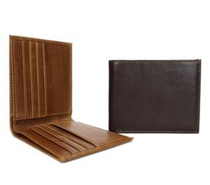 디자이너 - 가죽 남성 지갑 간단한 짧은 크로스 섹션 리얼 가죽 지갑 소 가죽 레저 지갑