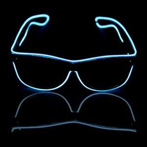 Glow Güneş Gözlük Led Dj Bright Light Emniyet Işık Up Çok renkli Çerçeve Ses Kontrol Led Yanıp sönen Gözlükler