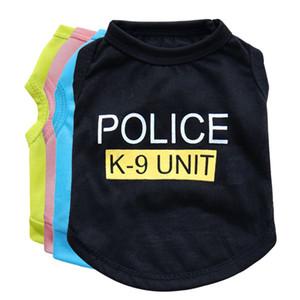 개 의류 개 조끼 애완 동물 스웨터 강아지 셔츠 소프트 코트 재킷 봄 여름 개 고양이 의류 경찰 의류 4 색 HH7-1942