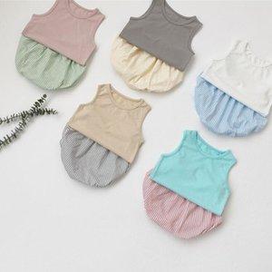Roupa Crianças Conjuntos bebê algodão macio Vest manta PP Calças Briefs Suits Verão Sem Manga Shorts Pão Pants infantil Cueca YP893