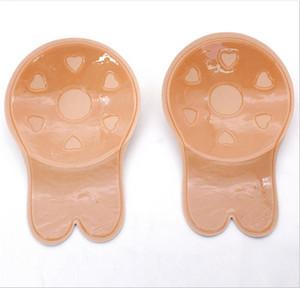 Adesivi per il petto dell'orecchio di coniglio delle donne Adesivo invisibile senza spalline Reggiseni nascosti in silicone Coperchi anti-incurvatura della sposa Cuscini per seno B61902