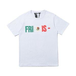 Hop T shirt Vlone uomini della maglietta donne di alta qualità Hip Vlone lettera stampata Mens Stylist T Tees maglietta formato S-XL