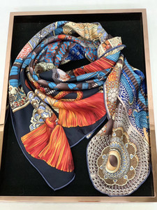 girls womens 90cm SQUARE 100% Real SILK SCARF Silk Satin Neckerchiefs factory sale MIXED 10 pcs lot #4191