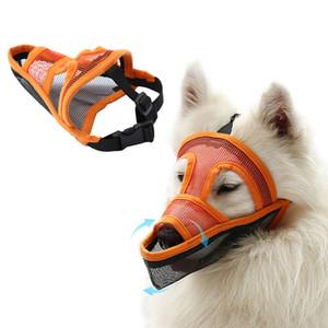 Djustable malla transpirable perro boca bozal anti Bite Chew Cubiertas Bozal para perros de nylon para mascotas de seguridad Cúbrase la boca Mascotas