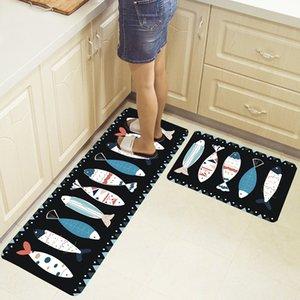 2pcs set Long Kitchen Mat Tapete Doormats Carpet Thin Non-Slip Anti Fatigue Door Bathroom Carpet Room Pad Floor Mat Home