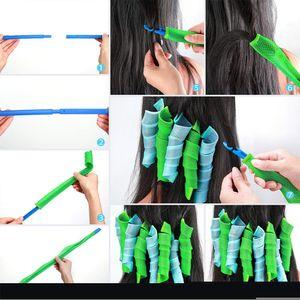 Magic Hair Biglers Rollers Lightweight Fashion Fasy Hair Curler Spiral Roller 20-75 cm para las mujeres ondas sin calor