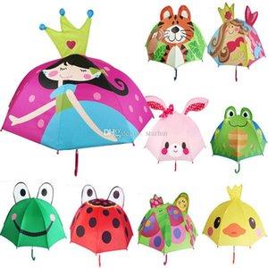 Lovely Cartoon Design Umbrella For Kids High Quality 3D Optional Function Umbrella Light For Rain Sun 13 Styles Free DHL WX9-692