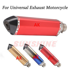 470mm Motorcycle Pitbike Exhaust Echappement Escape Moto Muffler Racing Motorcross Modified Pipe For cb1000r CBR250R ER6N RC390