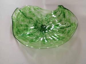2020 i più nuovi Blown Plates Green Flower Glass Wall Art Wall Art Dale Chihuly stile vetro borosilicato Arte a mano