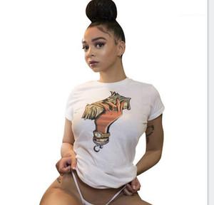 Dollar Imprimé Mode Chaude rue T-Shirts Tops Femme Vêtements Femmes INS Chaude T-Shirts D'été Designer