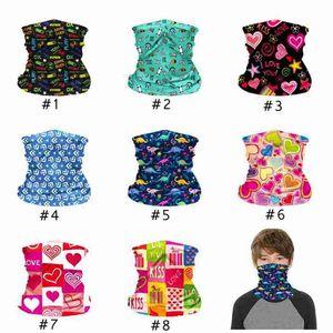 Máscara protectora de la cara de los niños los niños Máscara ciclo al aire libre bufanda mágica del pañuelo de la venda del cuello polaina pasamontañas turbante ZZA2376 60Pcs