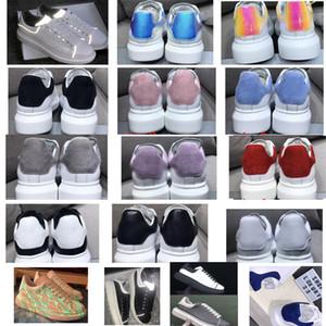 Black Suede Reflective Plattformschuhe Herren Damen Lederturnschuhsport Trainer weiß Kalbsleder Hochzeit Schuhe Top-Qualität 39 Farbe