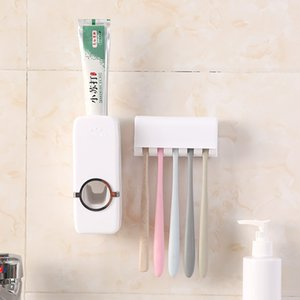 Accessori bagno Set Tooth Tools Brush Holder automatico Holder dentifricio Spazzolino montaggio a parete rack set da bagno