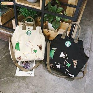 Canvas Handbag New European And American Fashion Literary Handbag Canvas Bag For Women 2020 Starbucks Handbags Casual Shoulder