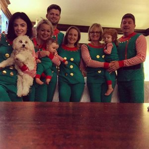 2pcs Set Family Christmas Matching Noël Pyjama Set vêtements de nuit de nuit Deer Femmes Enfants Hommes