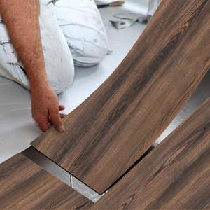 PVC Grana del legno Piano Stciker della decalcomania adesivo decorazione domestica 20 * 300 centimetri da terra Contatto Carta sfoderabile decorativo per la parete