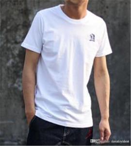 Hint Baskı Erkek Tasarımcı Katı Renk Nefes Tişört İnce Mürettebat Boyun Casual Luxury Mens Tees Tops