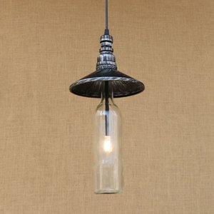 settore LED bottiglia ciondolo lampada d'epoca bagno luce del Governo del soggiorno / pranzo / bar Lampada G4 Pendant Light Fixture