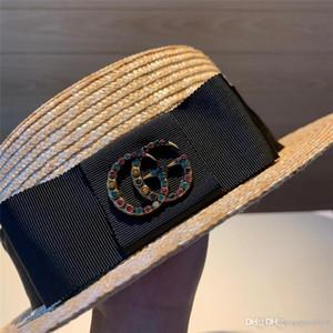 19SS Unisex Siyah beyaz Cimri Brim Dans ile şapka kap caz Fedora Şapka keçe L5 erkekler kadınlar için panama fötr chapeau Caps gerçekleştirin