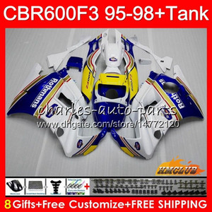 Honda CBR 600F3 600cc CBR600 F3 95 96 Rothmans Mavi 97 98 41HC.10 CBR 600 FS F3 CBR600FS CBR600F3 1995 1996 1997 1998 kaporta için Gövde + tank