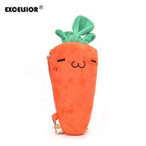EXCELSIOR New Arrival Hot Sale Cute Women's Crossbody Bag Carrot Soft Flannel Chain Handbag Two Color Baby Bag Bolsos Muje G2135