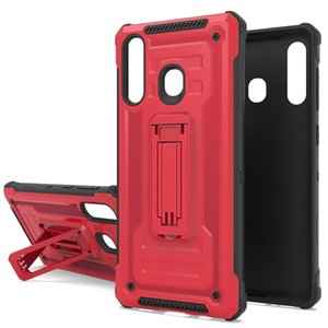 para Alcatel 7 Folio 1X Evolve IdealXtra 5059R Coolpad Revvl Plus Hybird Funda Rugged Armor Kickstand Contraportada Slim Shell Galaxy Note 10 Pro