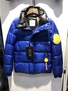 Inverno antivento Cerniera giù ultra anatra luce uomini incappucciati caldi degli uomini del rivestimento giacca di Down lettera giacca LOGO uomini di