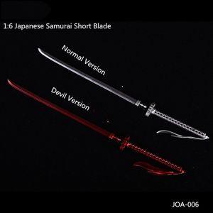 Collectible 1:6 Scale Japanese Samurai Katana Short Blade Normal Devil Ver. Scene Accessories Model for 12'' Action Figure