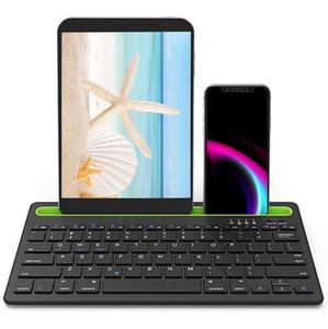 Neu Universal Wireless Bluetooth-Tastatur Dual-Kanal PC-Telefon-Tablette drahtlose Bluetooth-Tastaturen suppost Multi-Geräte-mutiple-System