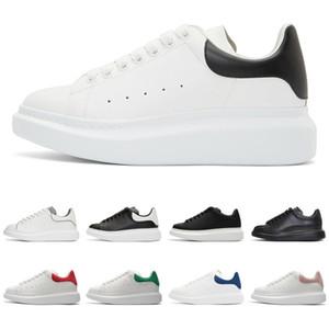 Sapatos de grife para mulheres dos homens tênis de plataforma de moda 3 m reflexivo triplo preto camurça de couro branco mens plana sapato casual tamanho 36-44