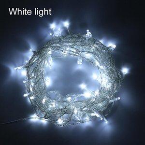 Garland Noel Güç Amp İçin Su geçirmez 100m İç Dış Aydınlatma DC12V LED String Işık; Uzaktan Düğün Isınma Beyaz Cf299