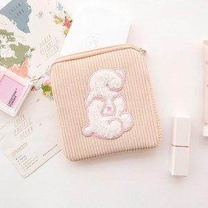 Shy Sanitary Baumwolltasche Corduroy Stickerei Monats Bag Sanitary Towel Lagerung Kosmetik