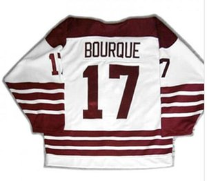 mulheres costume Homens Jovens AHL Vintage Hershey Urso 17 Chris Bourque Hockey Jersey tamanho S-5XL ou personalizado qualquer nome ou número