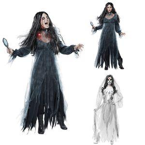 Hot femmes cosplay Halloween Costume Horreur Fantôme Mort Zombie Corpse Bride Dress