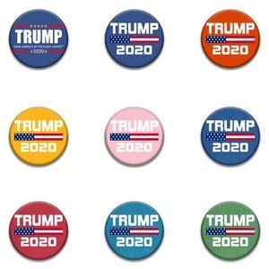2020 Donald Trump Badge Présidente américaine Broches américaines Flag Drapeau Nouveau Style Trump Badge pour hommes Femmes HHA1352N