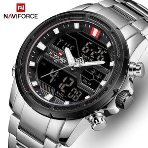 NAVIFORCE Watches for Men Sport Quartz Wristwatch Waterproof Digital Male Clock Steel Relogio Masculino