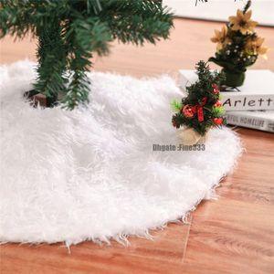 Gonne di albero di Natale di peluche bianche Tappeto di pelliccia Decorazione di buon Natale per la casa Natal Natal Tree Gonne Decorazione di Capodanno