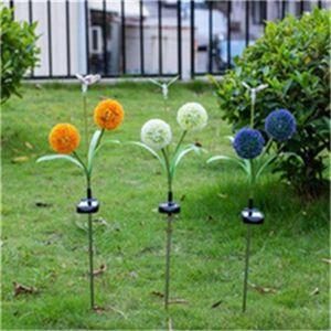 Luci solari 3 LED solari Luci da giardino Fiore lampada esterna decorazione di illuminazione Per Percorso Way lampada di paesaggio decorativa Recinzione Lamp