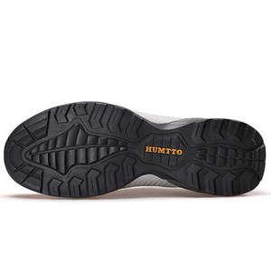 HUMTTO Chaussures de marche en cuir hommes Chaussures de sport Sports de plein air Escalade Camping antidérapants Wearable Chaussures Trekking Nouvelle mise à niveau Taille Big