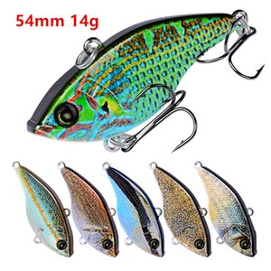 1pc VIB Plastic Hard Baits & Lures 10 Color Mixed 54mm 14g 8# Fishing Hooks B86_91