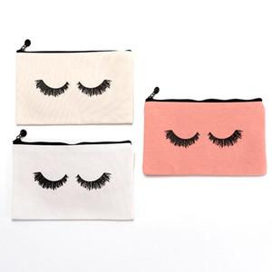 1PCS Pen Bag portátil Maquiagem Canvas pestana Impresso Armazenamento Pen Bag Papelaria Beleza Wash para viagens ao ar livre