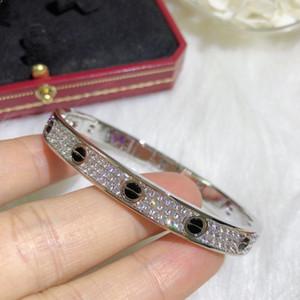 Bracciale aggancio di cerimonia nuziale Donne placcato oro AU750 limitare Luxe Edition amore Diamante BRACCIALI per banchetti gioielli