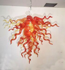 Arancione brillante Glass Chandelier 20ich piccola lampada Hang lampada AC110V 220V luci LED Sala da pranzo Lampadari Luci Pendenti Bar Entryway